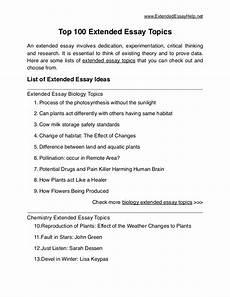 Essay Question Examples Top 100 Extended Essay Topics