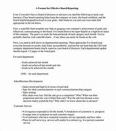 Board Report Format 24 Board Report Templates Pdf Word Apple Pages