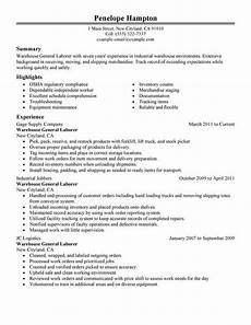 Objective For A General Resumes General Labor Resume Examples Free To Try Today