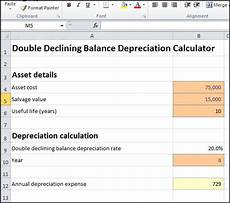 Depreciation Calculator Double Declining Balance Depreciation Calculator Double