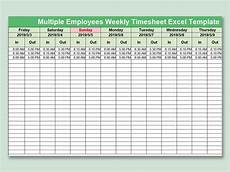 Excel Timesheet For Multiple Employees Wps Template Free Download Writer Presentation