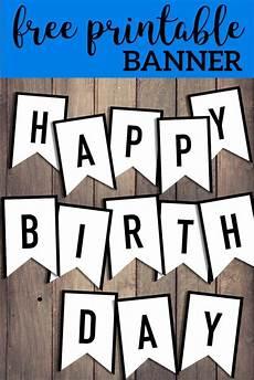 Printable Happy Birthday Banner Free Happy Birthday Banner Printable Sign Happy Birthday