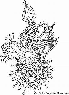 abstract doodle zentangle coloring pages colouring adult