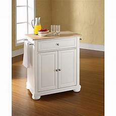 portable islands for kitchen crosley alexandria wood top portable kitchen