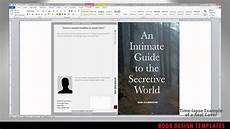Book Templates For Microsoft Word Print Book Cover Template For Word Preview Youtube