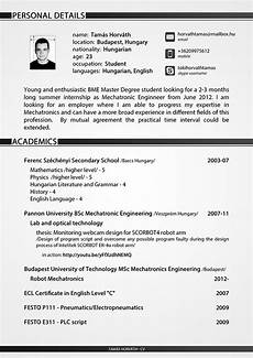 Sample Cv For Engineering Students Curriculum Vitae For Engineering Student On Behance