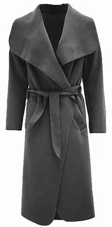 drape coats for witer womens shawl collar belted italian drape waterfall