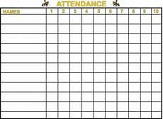 Printable Attendance Chart For Kids Printable Sunday School Attendance Charts Attendance