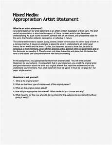 Artist Statement Sample Project Art A Day Artist Statement Examples Artist