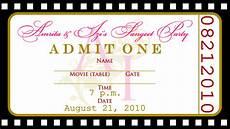 Concert Ticket Invitation Template Free Fashionable Concert Ticket Invitation Template Free In