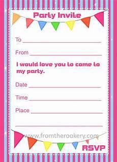 Create Printable Birthday Invitations Birthday Invitations Printable