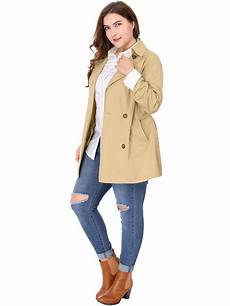 plus size trench coats for 3x agnes orinda plus size breasted belted trench
