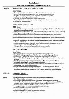 Treasury Resume Associate Treasury Resume Samples Velvet Jobs