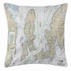 Chart House Narragansett Longshore Tides Viggo Narragansett Bay Ri Throw Pillow