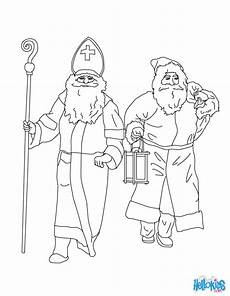 ausmalbilder nikolaus weihnachtsmann santa claus nicholas coloring pages hellokids