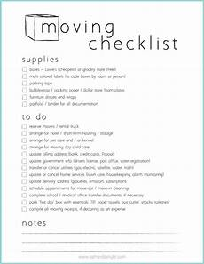 Free Printable Moving Checklist Moving Checklist Free Printable 29th And Delight