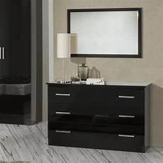simona black high gloss 3 drawer chest of drawers f d brands