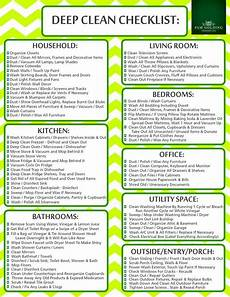 Best Way To Make A Checklist Click The Image To Print Your Deep Clean Checklist