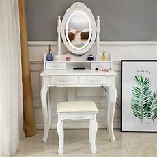 Vanity Table Set With Lights White Makeup Vanity Table Set With Lights Led Mirror And 4