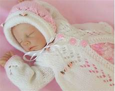 baby knitting pattern dk 12 to knit matinee set lace