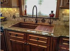 Hundreds of Photos of copper sinks installed in kitchens