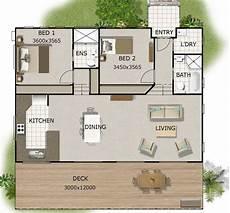 2 bedrooms 2 bathroom concept house plans for sale