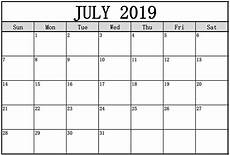 July Printable Calendar Free Printable July 2019 Calendar Welcome To The World