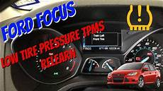 Ford Fiesta Low Tire Pressure Light How To Train Tpms Tire Pressure Sensors On Ford Focus 2011