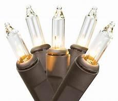 20 Ct Mini Christmas Lights 100 Clear Mini Christmas Lights 20 5 Ft Brown Wire