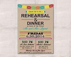Latin Wording Fiesta Wedding Rehearsal Dinner Invitation By Darlinbrando