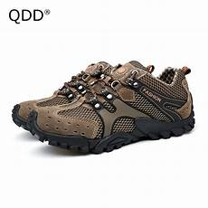 outdoor hiking shoes for comfortable qdd cross the mountain leather surface hiking shoes