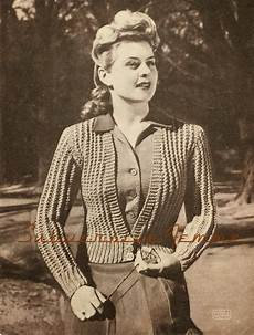 the vintage pattern files 1940 s knitting belinda cardigan