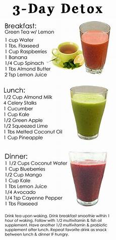 a 3 day detox diet to reset your detox