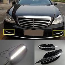 Mercedes Benz Cornering Lights 2pcs White Drl Daytime Running Light Fog Led For Mercedes