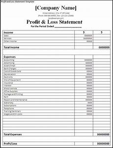 Profit And Loss Report Template Profit And Loss Statement Methods Free Word Templates