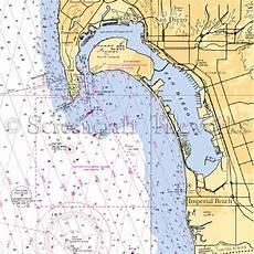 San Diego Bay Depth Chart California San Diego Coronado Nautical Chart Decor