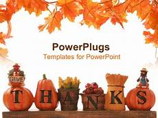 Thanksgiving Powerpoint Background Powerpoint Template Thanksgiving Decoration With