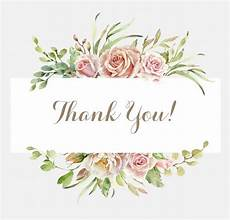 thank you card template free vector floral thank you card template vector free