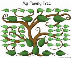 Family Tree Outlines Free A Printable Blank Family Tree To Make Your Kids Genealogy