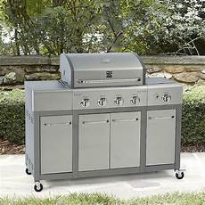 kenmore 4 burner stainless steel gas propane grill outdoor