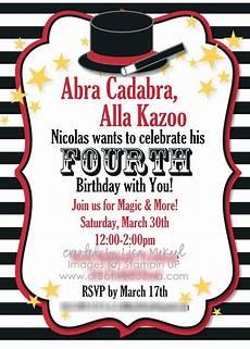 Magic Themed Birthday Invitations Magic Theme Kids Birthday Party Created By My Digital