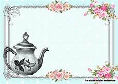 Vintage Party Invitation Free Vintage Tea Party Baby Shower Invitations Drevio