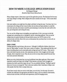 Samples Of College Essays College Application Short Essay Example