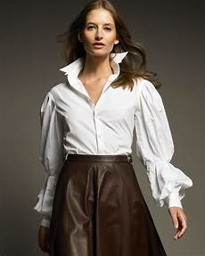 poets blouse lyst ralph desmond poet sleeve shirt in white