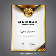 Template Of Award Certificate Award Certificate Vectors Photos And Psd Files Free