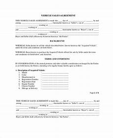 Sales Agreement Template Word 20 Purchase And Sale Agreement Templates In Ms Word Pdf