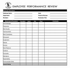 Performance Evaluation Template For Employees 13 Employees Write Up Templates Free Sample Example