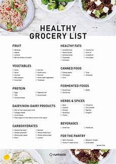 Normal Grocery List Healthy Shopping List 13 Must Have Foods In The House