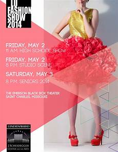 Fashion Show Flyers 17th Annual Student Fashion Show Lindenlink