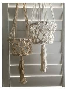 buy on line macrame hanging baskets by nomad www